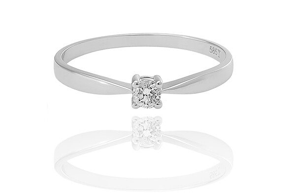Paris - gyémánt eljegyzési gyűrű