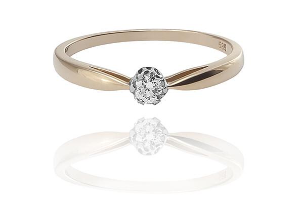 Amaranth - gyémánt eljegyzési gyűrű