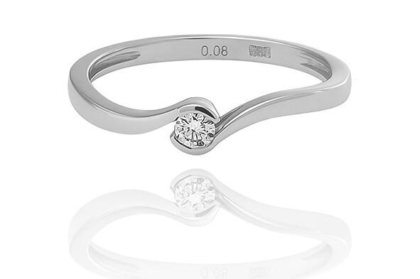 Laine - White Gold - gyémánt eljegyzési gyűrű