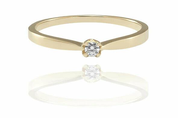 Helena - gyémánt eljegyzési gyűrű
