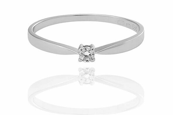 Isabell - gyémánt eljegyzési gyűrű