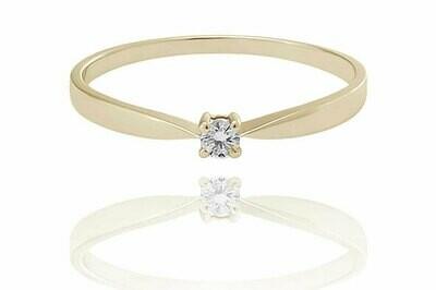 Janette - gyémánt eljegyzési gyűrű