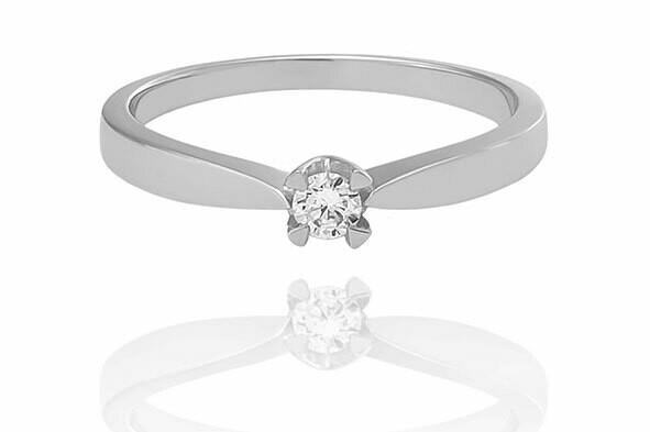 Boston - gyémánt eljegyzési gyűrű