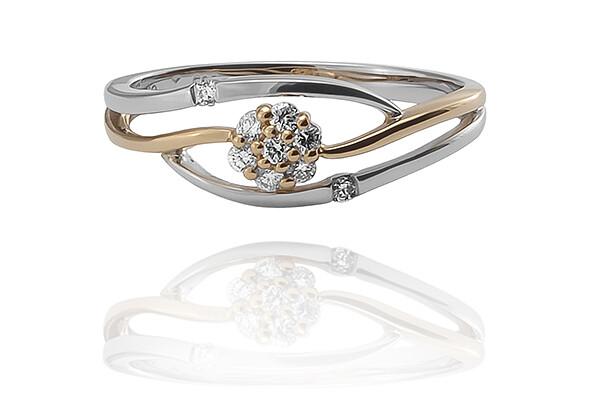 Daphne - gyémánt eljegyzési gyűrű