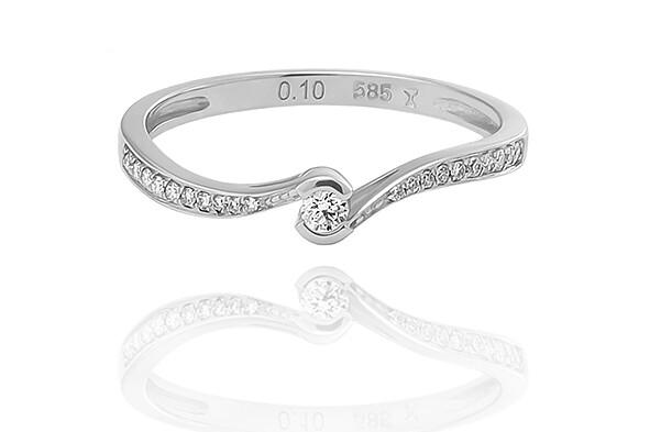 Selena - gyémánt eljegyzési gyűrű
