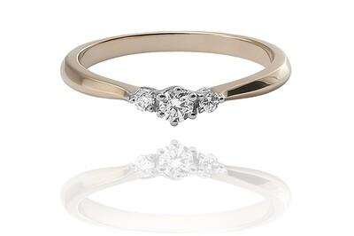 Dehlia - gyémánt eljegyzési gyűrű