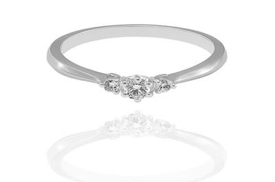 Florence - gyémánt eljegyzési gyűrű
