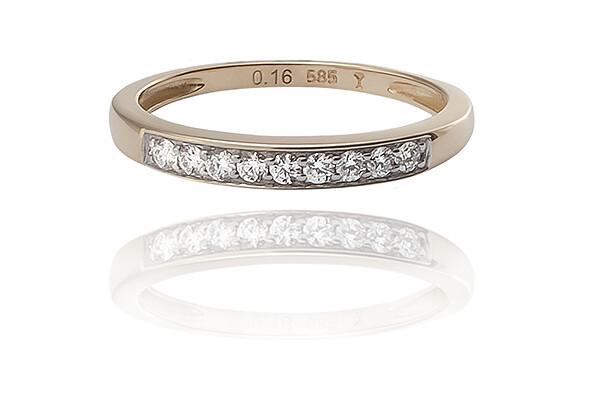Désiré - Gold - gyémánt eljegyzési gyűrű
