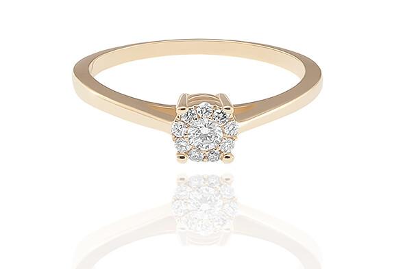 Gemma - Gold - gyémánt eljegyzési gyűrű