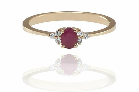 Rome – Rose Gold - drágaköves eljegyzési gyűrű