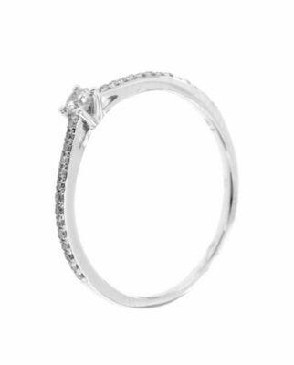 Charlotte - gyémánt eljegyzési gyűrű