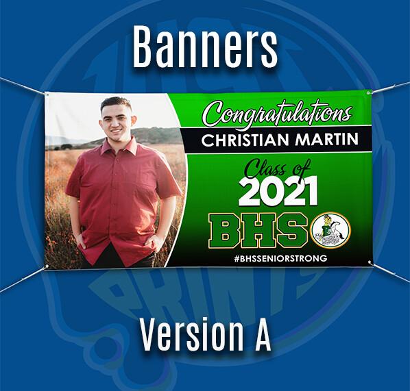Grad Banner - Class of 2021 BANNING HS