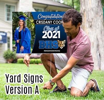 Grad Yard Sign - Class of 2021 BEAUMONT HS