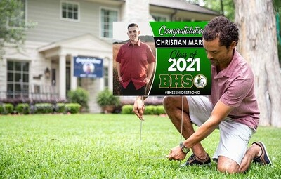 Grad Yard Sign - Class of 2021 ANY HS