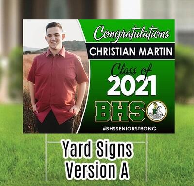 Grad Yard Sign - Class of 2021 BANNING HS