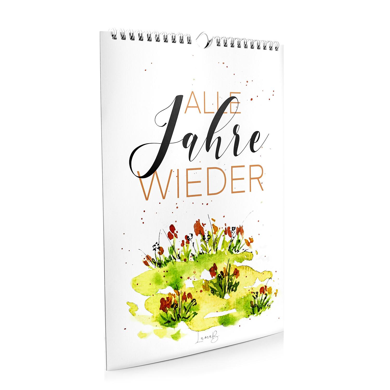 """Wandkalender """"Alle Jahre wieder"""" von Frohnatur"""