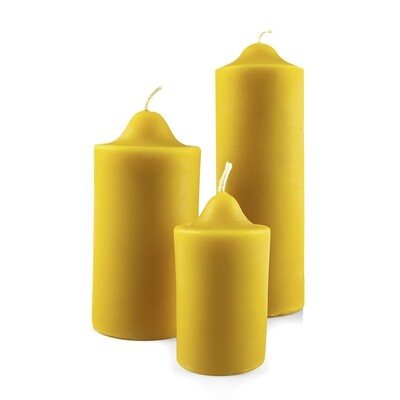 Bienenwachs-Kerze (Stumpen)
