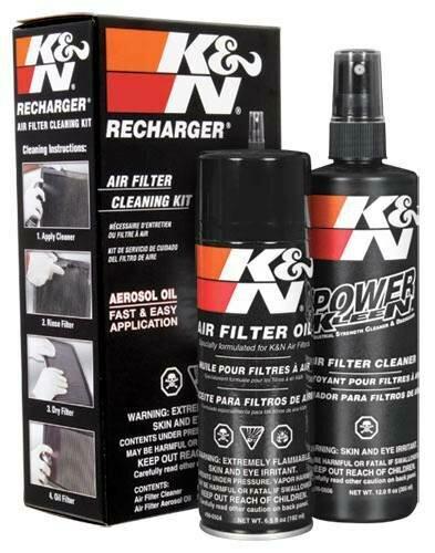 K&N AIR FILTER CLEANER & FILTER OIL SPRAY
