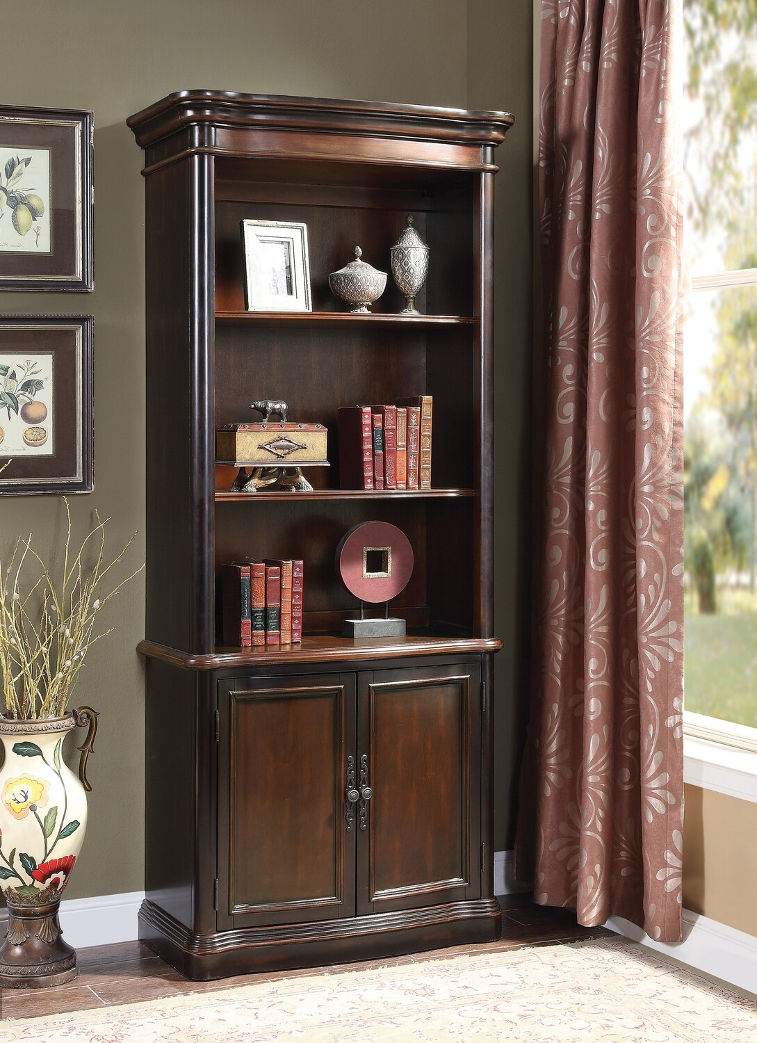 3-tier Bookcase with Cabinet