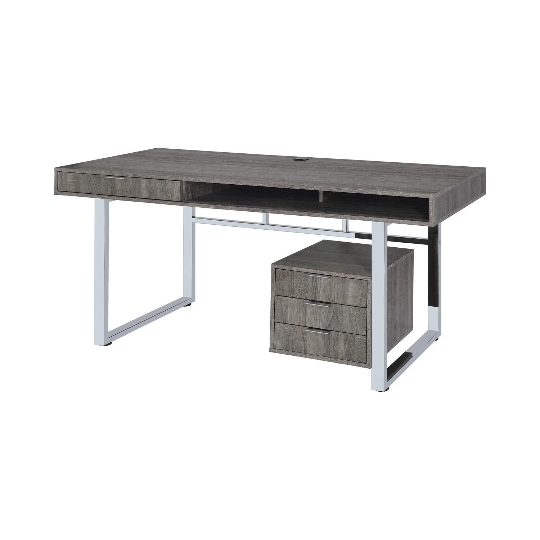 Modern Grey Writing Desk