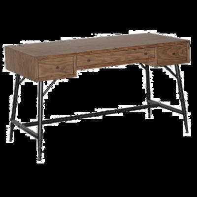 3 Drawer Metal Wood Desk