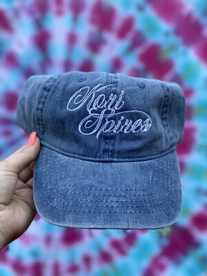 Kori Spires Dad Hat Denim/White