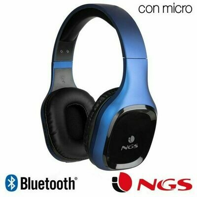 Auriculares Stereo Bluetooth Cascos Universal NGS Artica Sloth Blue