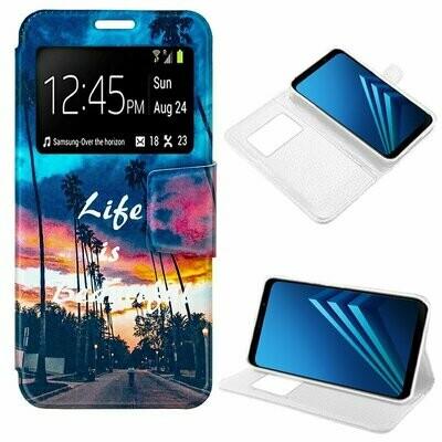 Funda COOL Flip Cover para Samsung A530 Galaxy A8 (2018) Dibujos Life