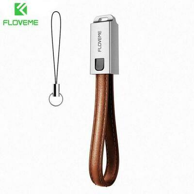 FLOVEME-Cables de carga Micro USB tipo Lightning edición cuero