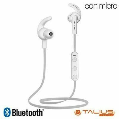 Auriculares Stereo Bluetooth Deportivos Talius Sport EA-1005BT Blanco