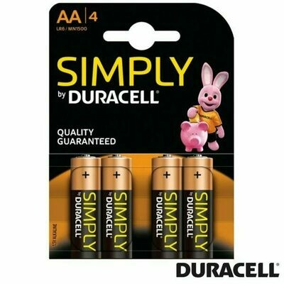 Pila AA LR6 Pack 4 Uds Duracell