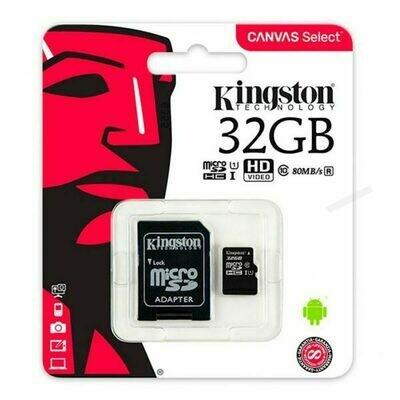 Tarjeta Memoria Micro SD con Adapt. x32 GB Kingston (Clase 10)