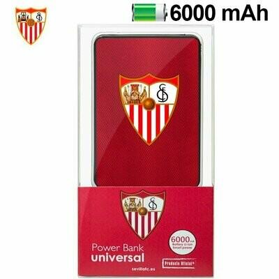 Bateria Externa Micro-usb Power Bank 6000 mAh Licencia Fútbol Sevilla C.F.
