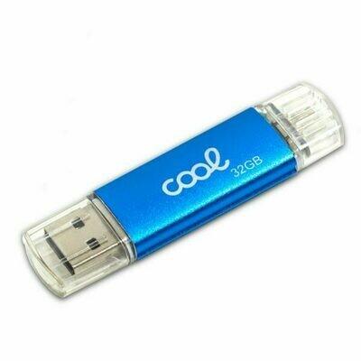 Pen Drive USB x32 GB 2.0 COOL OTG Micro-Usb Metal Azul