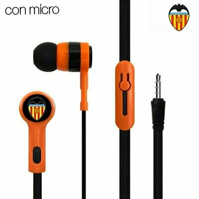 Auriculares Botón Stereo Jack 3.5 mm Licencia Fútbol Valencia CF