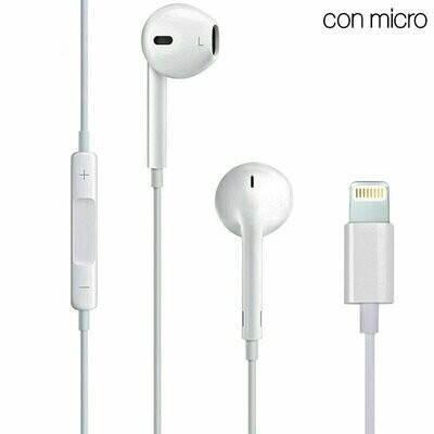 Auriculares Blancos COOL Stereo Con Micro para iPHONE 7 / 8 / X (Lightning Bluetooth)