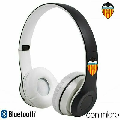 Auriculares Stereo Bluetooth Cascos Licencia Fútbol Valencia C.F.