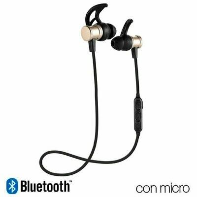 Auriculares Stereo Bluetooth Deportivos COOL Magnetic Dorado