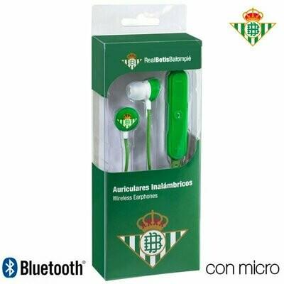 Auriculares Stereo Bluetooth Deportivos Universal Licencia Fútbol Real Betis