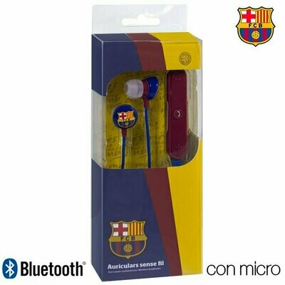 Auriculares Stereo Bluetooth Deportivos Universal Licencia Fútbol F.C. Barcelona