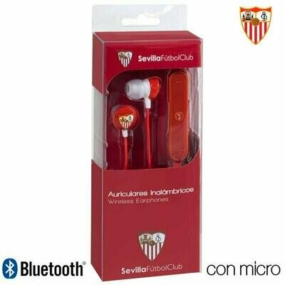 Auriculares Stereo Bluetooth Deportivos Universal Licencia Fútbol Sevilla C.F.