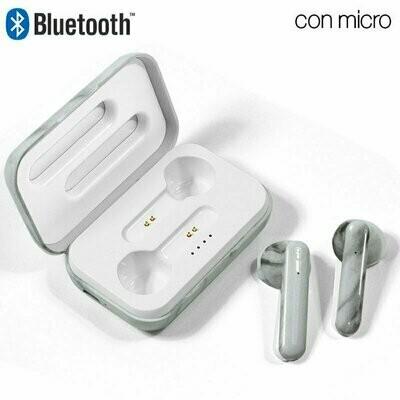 Auriculares Stereo Bluetooth Dual Pod COOL STYLE Mármol