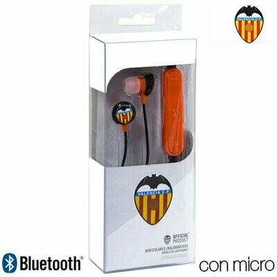 Auriculares Stereo Bluetooth Deportivos Universal Licencia Fútbol Valencia