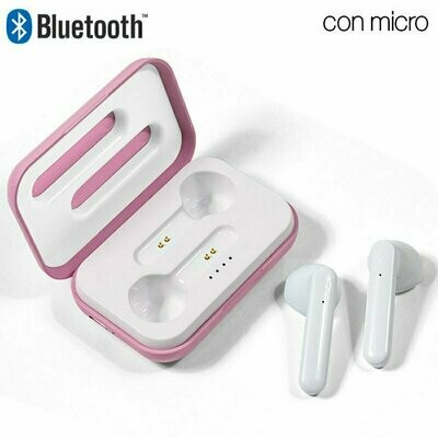 Auriculares Stereo Bluetooth Dual Pod COOL STYLE Rosa