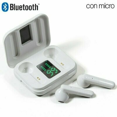 Auriculares Stereo Bluetooth Dual Pod COOL STYLE V2 Blanco