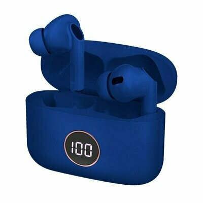 Auriculares Stereo Bluetooth Dual Pod Earbuds Lcd COOL AIR PRO Azul