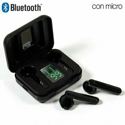 Auriculares Stereo Bluetooth Dual Pod COOL STYLE V2 Negro