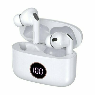 Auriculares Stereo Bluetooth Dual Pod Earbuds Lcd COOL AIR PRO Blanco
