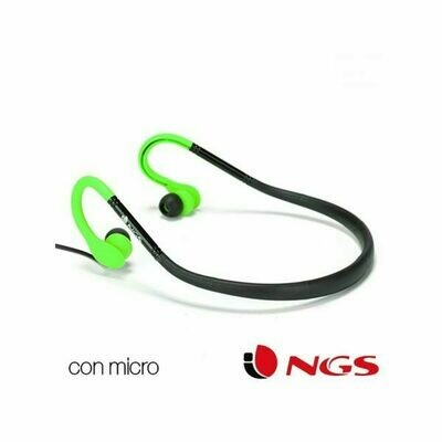Auriculares Deportivos NGS Universal Stereo Green Cougar