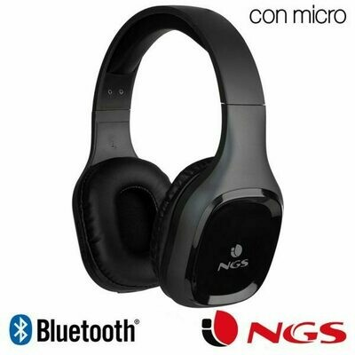 Auriculares Stereo Bluetooth Cascos Universal NGS Artica Sloth Black